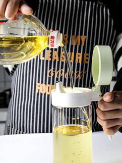 油壺 玻璃防漏油瓶大容量廚房家用油壺醬油瓶醋壺調料瓶罐