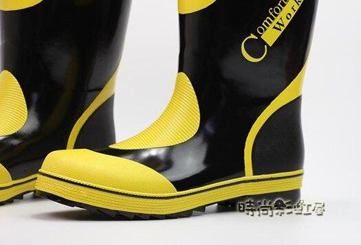 雨鞋男春夏新款中高筒透氣橡膠鞋防水鞋時尚膠鞋水靴防滑套鞋舒適「時尚彩紅屋」