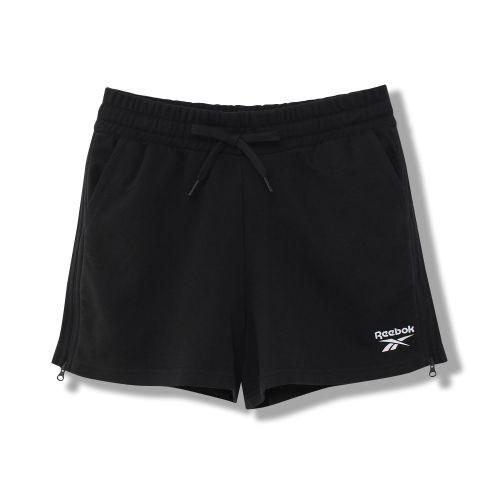 REEBOK Classics Shorts 女裝 短褲 慢跑 休閒 棉質 褲腳拉鍊 黑【運動世界】FS8860