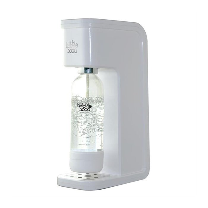 ★周年慶加贈★《法國Bubble Soda》免插電全自動氣泡水機(白色) BS-909