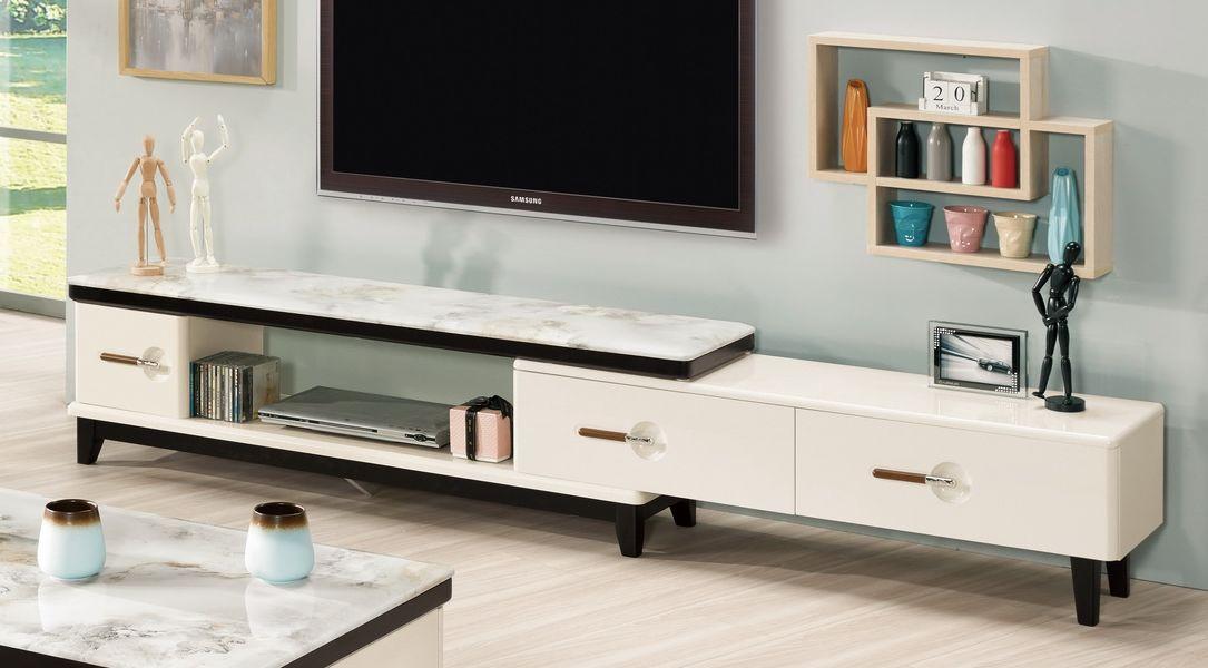 【簡單家具】,G314-2 嘉美拉5尺原石伸縮長櫃/電視櫃,大台北都會區免運費