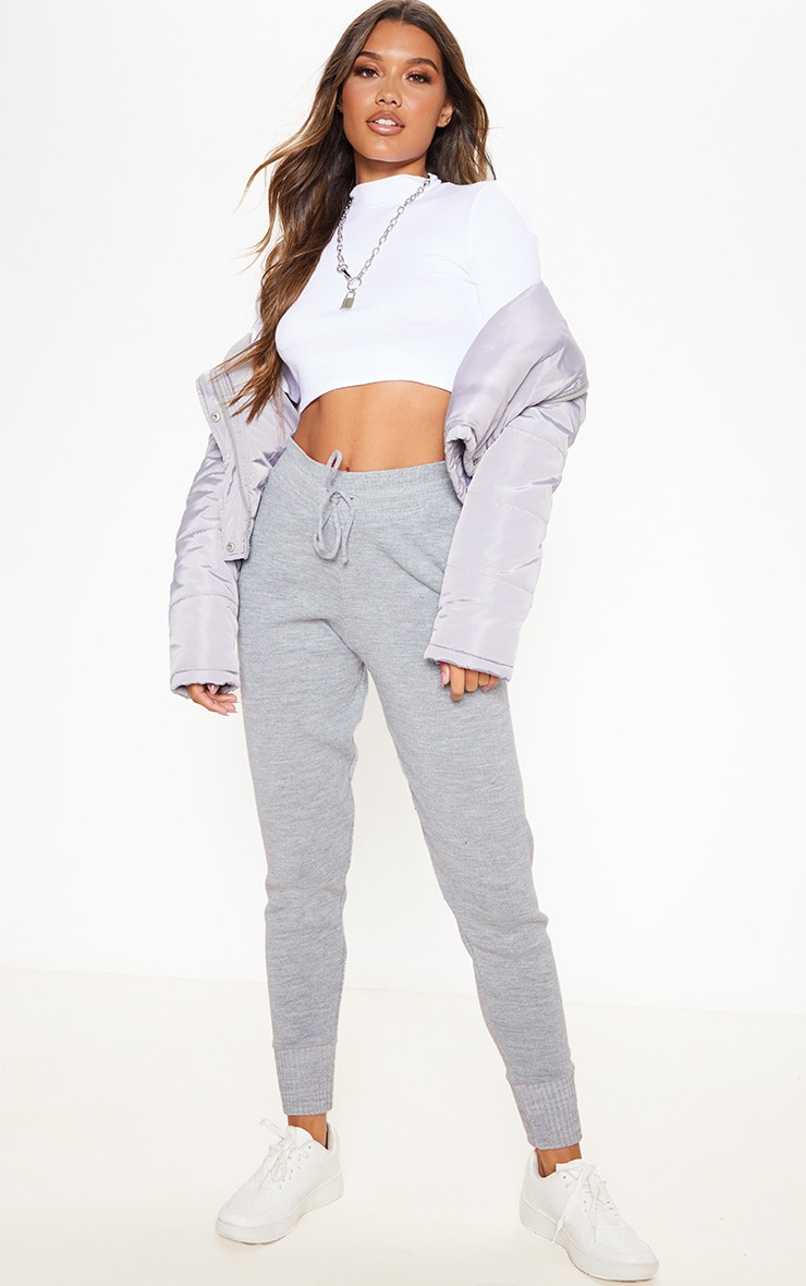 Grey Knitted Track Pants