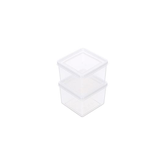 聯府方型巧麗密封盒2入 g602