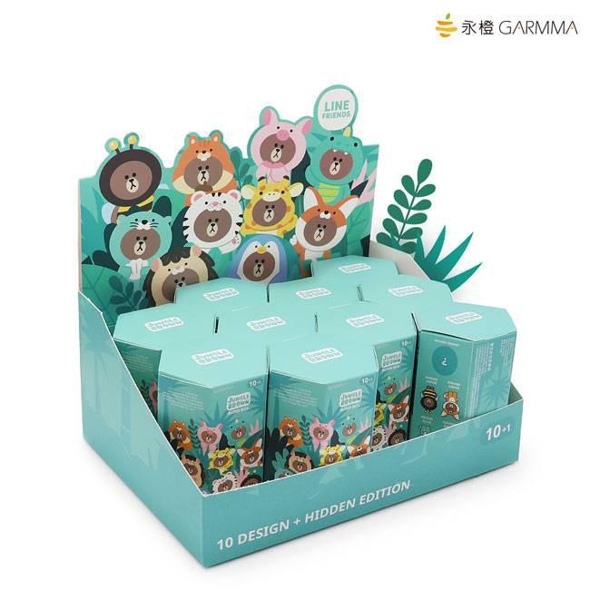 GARMMA 永橙 LINE FRIENDS 叢林系列 盲盒 盒玩公仔 熊大系列 (一套10隻不重複)【魔力電玩】