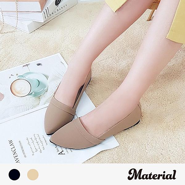 包鞋 摺邊尖頭平底包鞋 MA女鞋 T51014