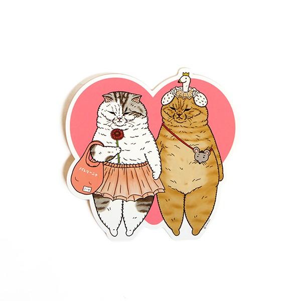 【不可思議的貓世界】裁型明信片-熱戀期 台灣限定