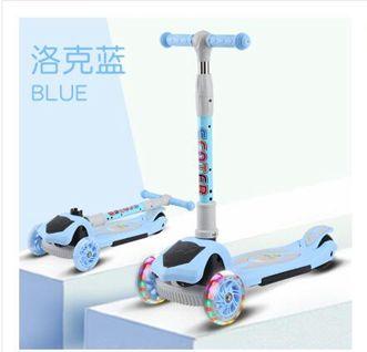 滑板車幼兒童1-3-6-12歲小孩可坐溜溜車三合一單腳寶寶踏板滑滑車