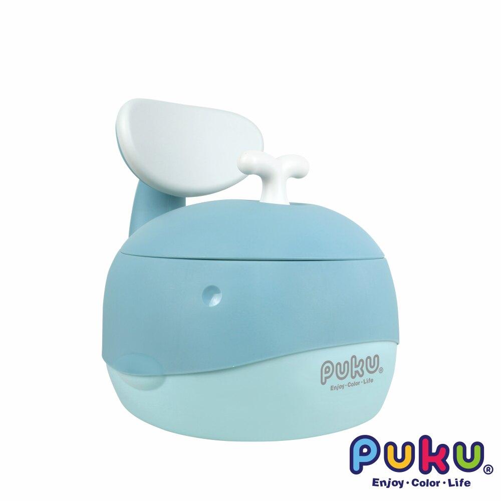 PUKU 藍鯨魚學習便器/兒童學習馬桶【六甲媽咪】