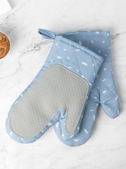 微波爐防燙手套2只隔熱防熱家用耐高溫廚房烘焙烤箱專用手套布藝