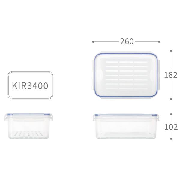 聯府天廚長型保鮮盒 (3.4l) kir3400