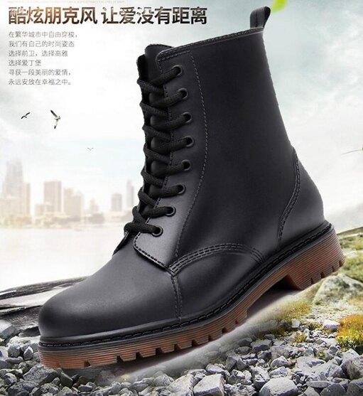 時尚防滑雨鞋男士春夏短筒低筒防水鞋套鞋馬丁雨靴男膠鞋大碼水靴「時尚彩紅屋」