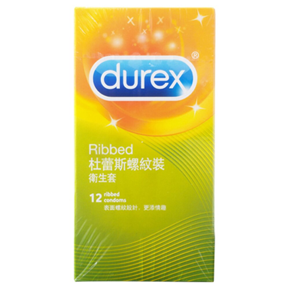 Durex 杜蕾斯 螺紋裝衛生套(12入)【小三美日】保險套◢D968974