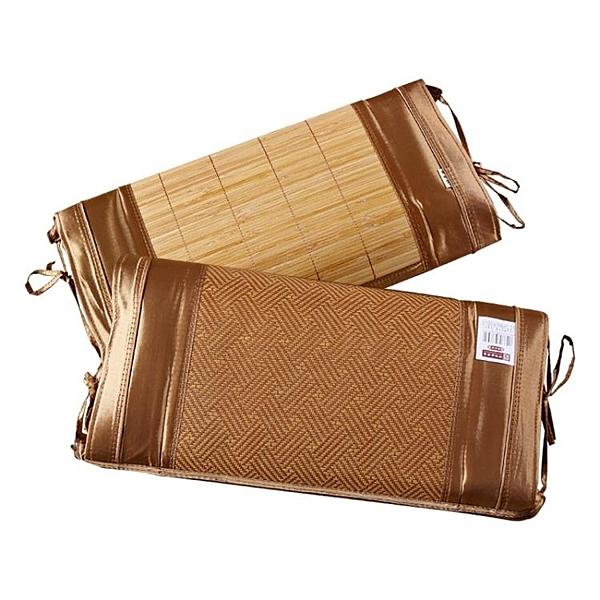 黃古林夏季涼席枕頭枕芯決明子禦香枕竹單人成人冰枕竹藤兩用 一木良品