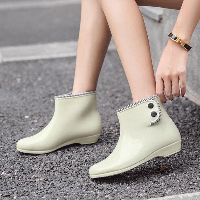 雨鞋短筒韓版時尚雨靴女士防滑套鞋成人水靴防水鞋女外穿加絨膠鞋 秋冬新品特惠
