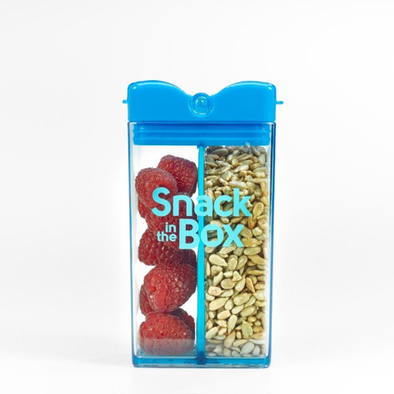 點點心零食分隔攜帶盒-天空藍