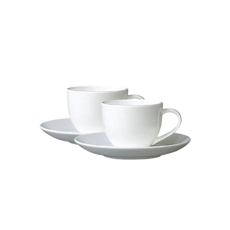 骨瓷咖啡杯兩入組 2入組/ 杯:200cc / 盤:15.3x2.2cm