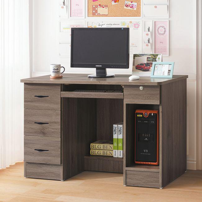【RA778-1】灰橡4尺電腦桌