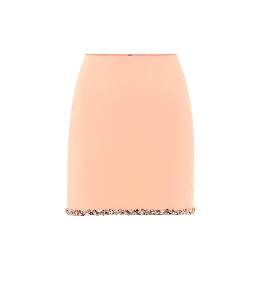 Exclusive to Mytheresa - Embellished cady miniskirt