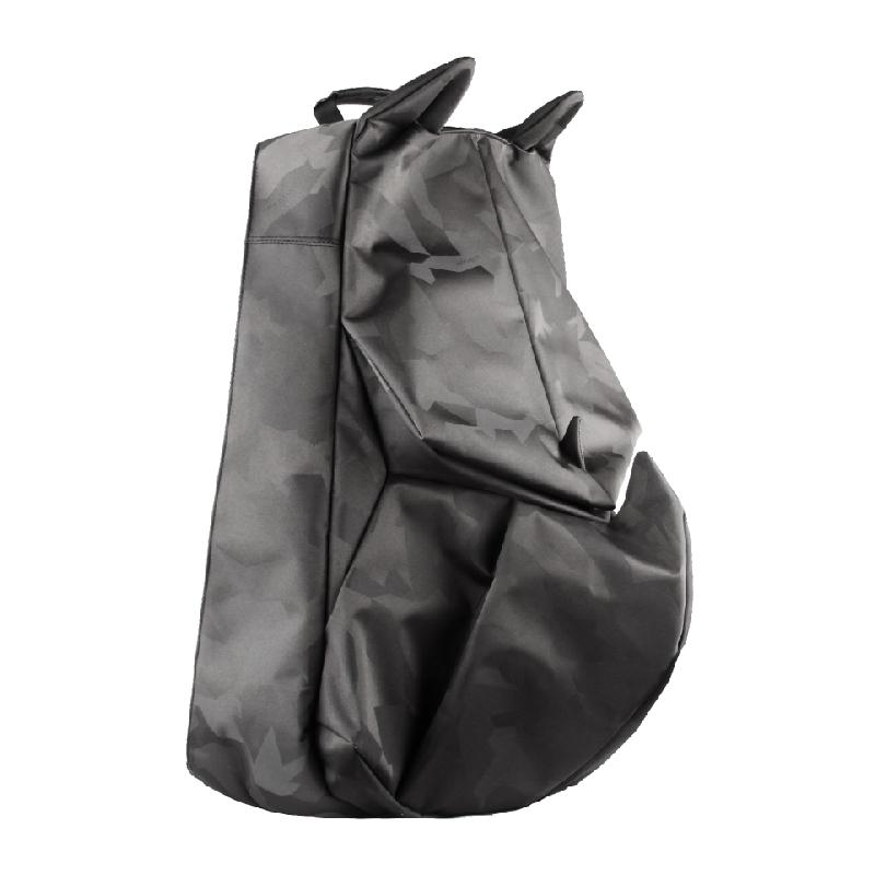黑迷彩犀牛 摺紙後背包(小)