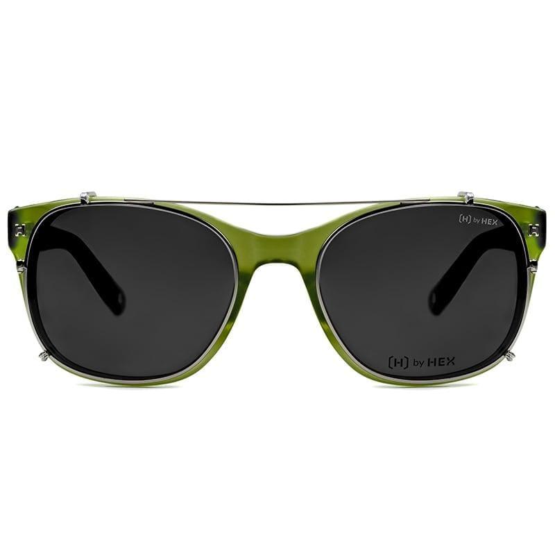 騎士 - King A.│光學配前掛墨鏡│太陽眼鏡│義大利設計 - 墨綠