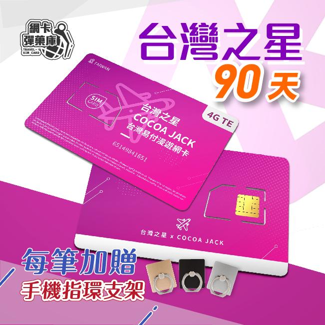 中華電信/台灣之星 雙電信90天無限量上網卡 隨插即用 免設定免登記 台灣網卡 台灣上網卡 台灣SIM卡