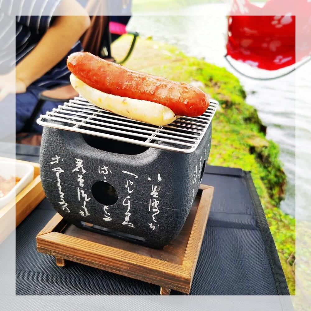 正方日式文字爐小烤肉爐迷你外燒烤爐