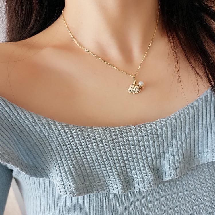 【missy shop】愛麗兒貝殼項鍊-6619