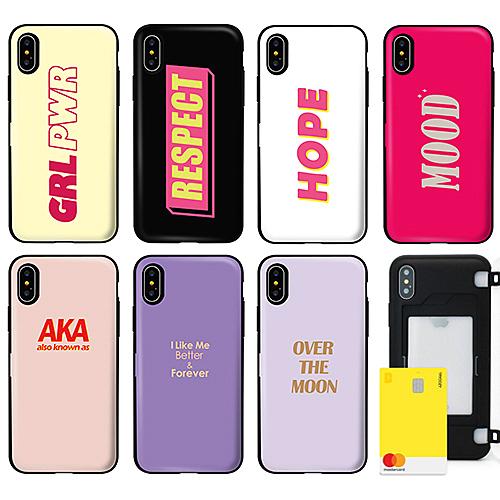 韓國 俚語字卡 防摔側開卡夾 手機殼│S7 Edge S8 S9 S10 S10E S20 Ultra Note8 Note9 Note10│z9336