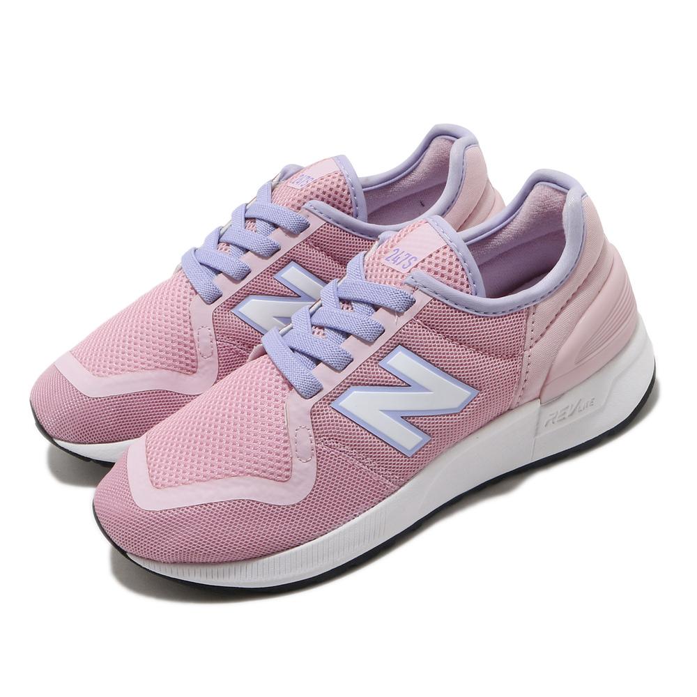 NEW BALANCE 休閒鞋 YH247SJ3 W 寬楦 女鞋 紐巴倫 基本款 簡約 舒適 穿搭 中大童 粉 紫 [YH247SJ3W]