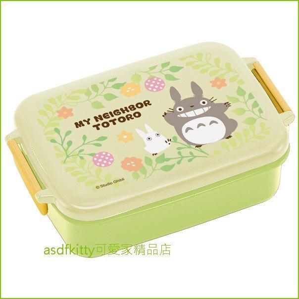 asdfkitty可愛家☆TOTORO龍貓花園樂扣型便當盒/保鮮盒/水果盒/收納盒-日本製