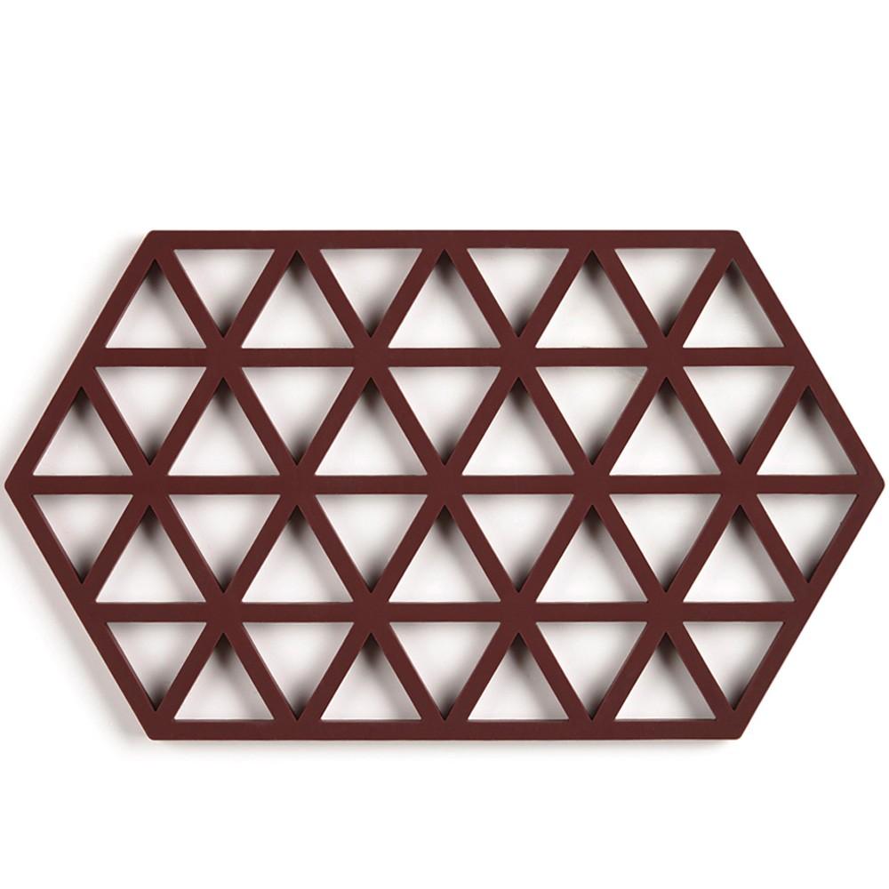 Zone Denmark|幾何格紋TRIVETS隔熱墊(葡萄紫)