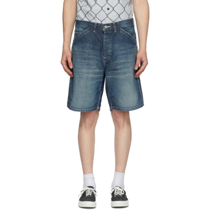 Neighborhood 靛蓝色 C-ST Utility 水洗牛仔短裤