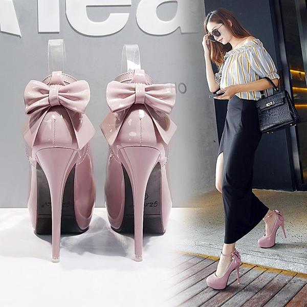婚鞋粉色高跟鞋細跟秋冬成年禮單鞋中跟鞋水鉆白色圓頭婚紗照女鞋