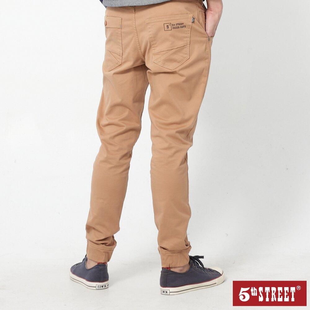 【5th STREET】男JOGGER縮口褲-褐色