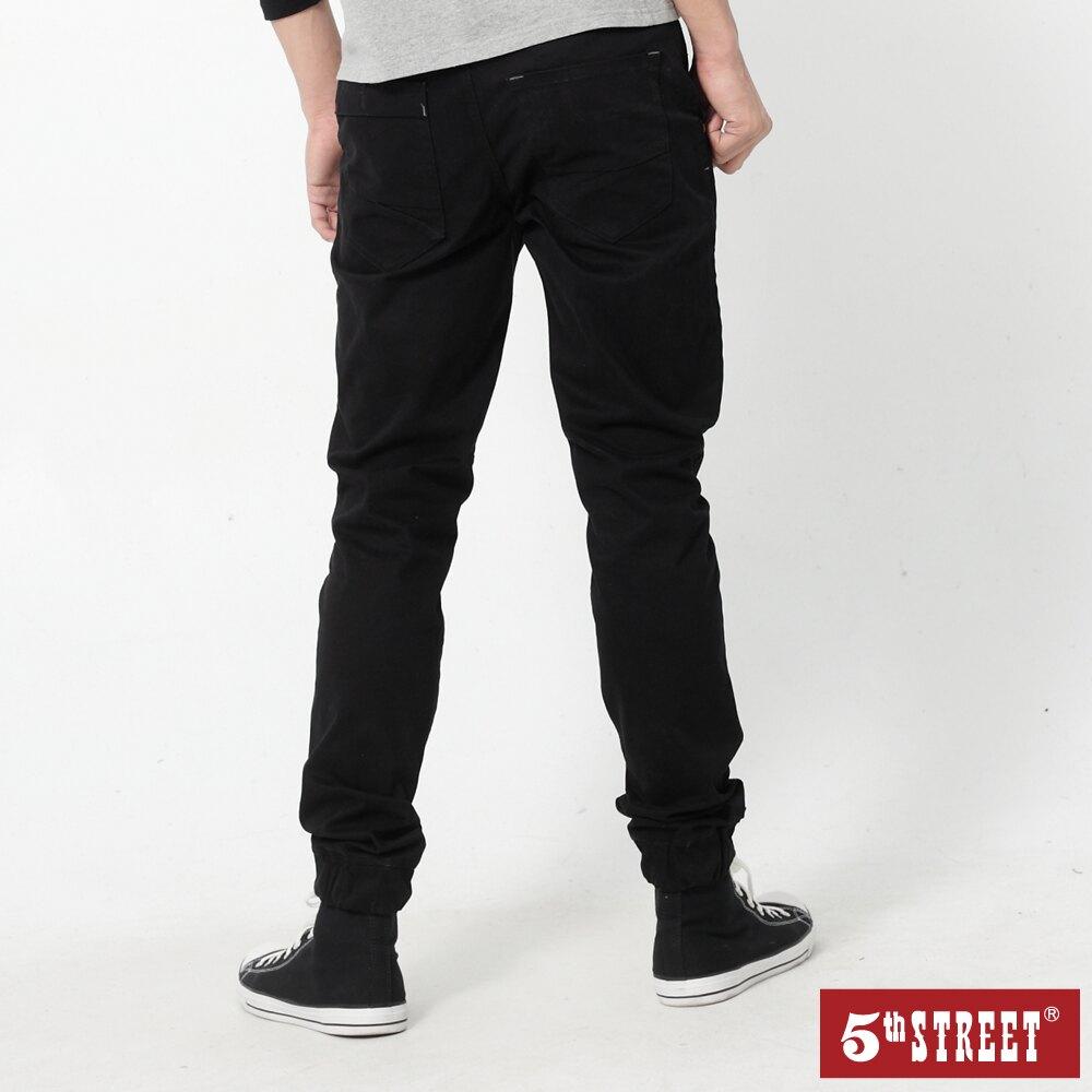 【5th STREET】男JOGGER縮口褲-黑色