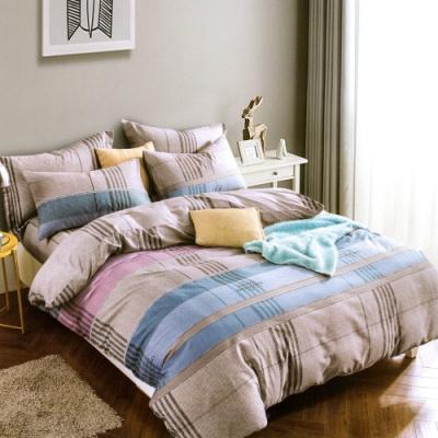 A-ONE 雪紡棉 單人床包/枕套 二件組 北歐藍調 MIT台灣製
