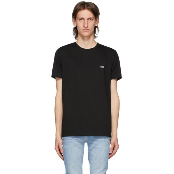 Lacoste 黑色比马棉 T 恤