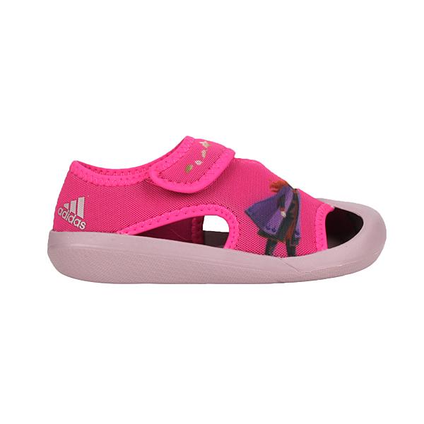 ADIDAS 女小童冰雪奇緣涼鞋(Frozen 魔鬼氈 護趾鞋 愛迪達 迪士尼 愛莎≡體院≡ FV4652_1