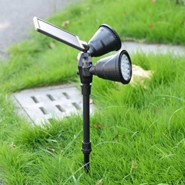 太陽能燈戶外草坪燈防水超亮射燈花園地插燈家用路燈庭院圍牆壁燈 萌寶時光