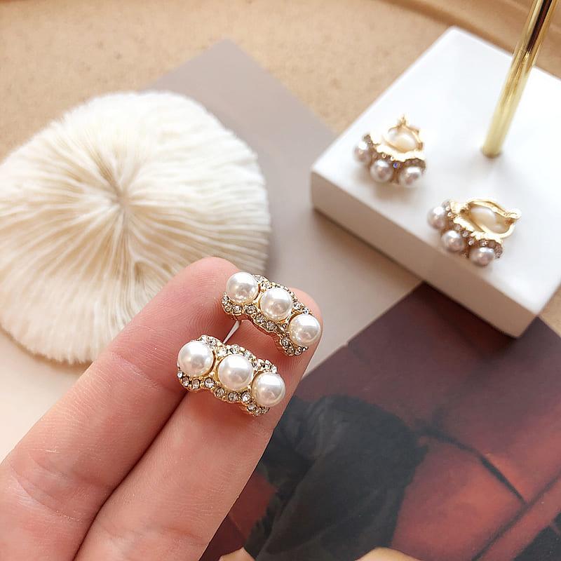 【missy shop】漫步海岸珍珠耳環