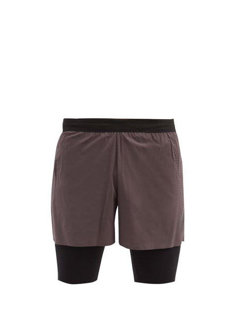 Soar - Elasticated Shell Running Shorts - Mens - Grey