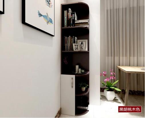 實木角櫃牆角櫃客廳三角置物架多功能轉角櫃子儲物櫃簡約邊角櫃      夏洛特居家名品