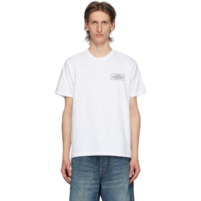 Neighborhood 白色 Bar and Shield T 恤