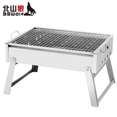 不銹鋼燒烤爐家用燒烤架烤肉戶外木炭小型摺疊野外燒烤爐子工具碳 MKS萌寶時光