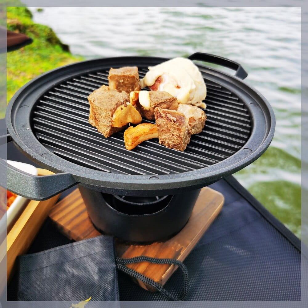 一人食鐵板燒個人燒烤小火鍋