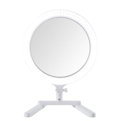 台灣SUNPOWER多用途3合1直播自拍化妝鏡面環形網美顏燈MP-3補光神器(高演色性;3200~5600K色溫調整)LED環形攝影燈
