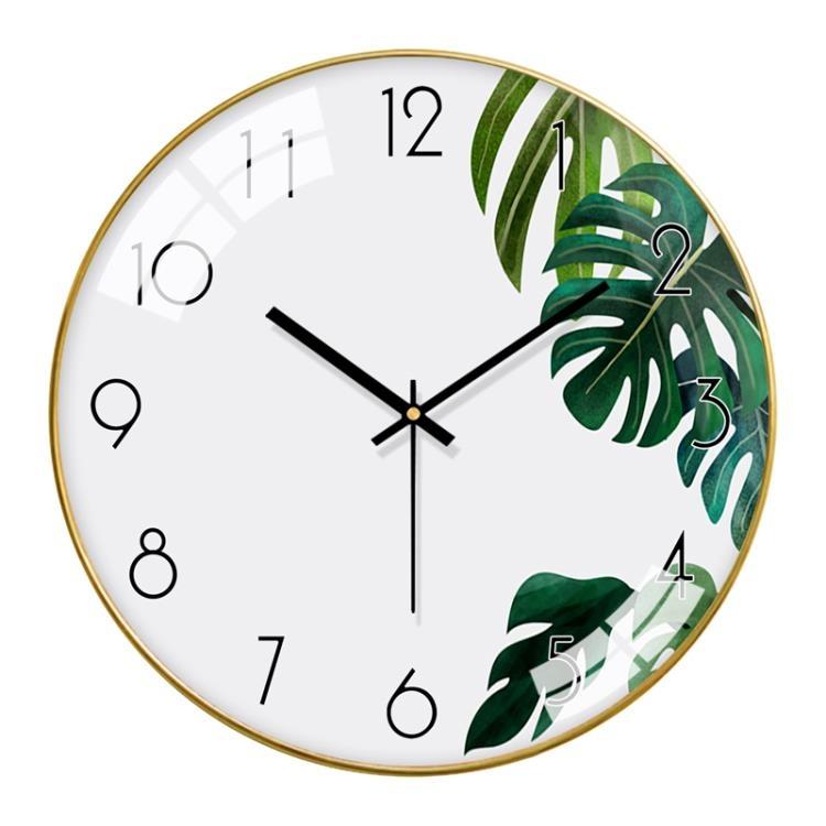 梵現代掛鐘客廳北歐錶掛墻家用時尚簡約鐘錶臥室靜音時鐘創意掛錶