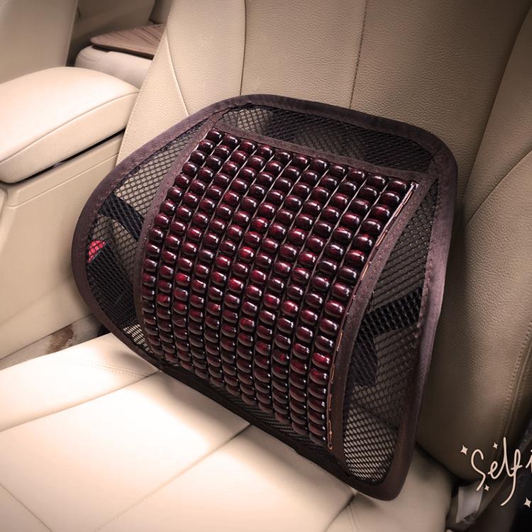 汽車腰靠墊木珠透氣護腰按摩腰墊辦公室座椅腰枕靠枕夏季靠背車用