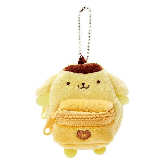 布丁狗 後背包造型絨毛吊飾零錢包《黃棕》掛飾收納包.玩偶配件