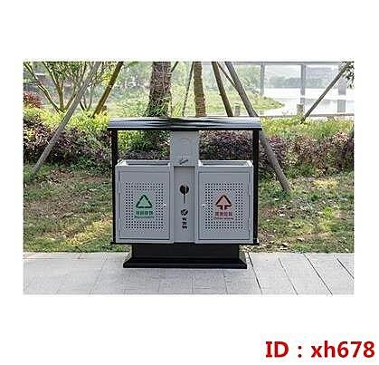 沖孔垃圾桶 戶外垃圾桶不銹鋼大號室外收納環衛街道景區多分類垃圾桶-主圖款